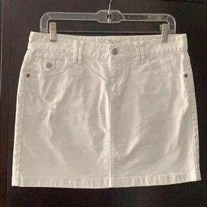 Loft white denim skirt